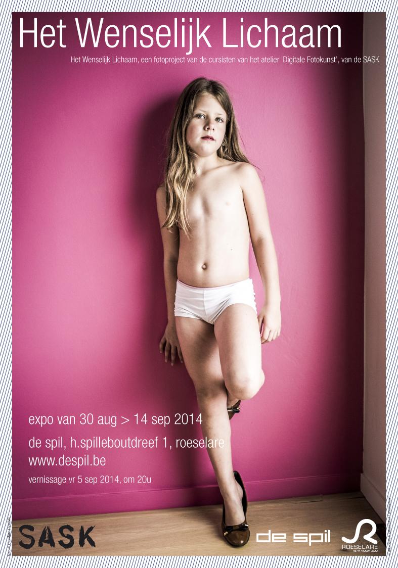 Affiche tentoonstelling het wenselijk lichaam